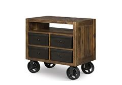 Braxton Nightstand w/ Lighting and Casters