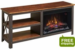 Grainger TV Console Electric Fireplace