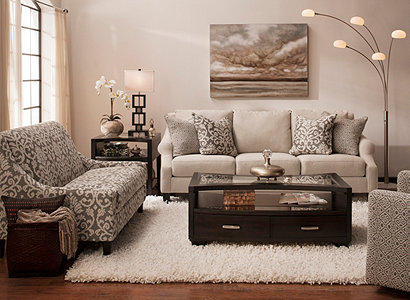 Transitional Living Room Furniture : Anastasia Transitional Living Room Collection  Design ...