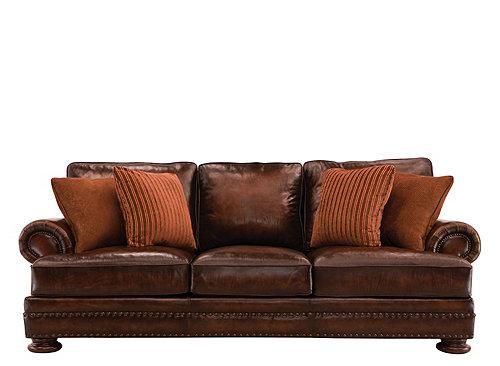 Foster Leather Sofa Walnut Raymour Amp Flanigan
