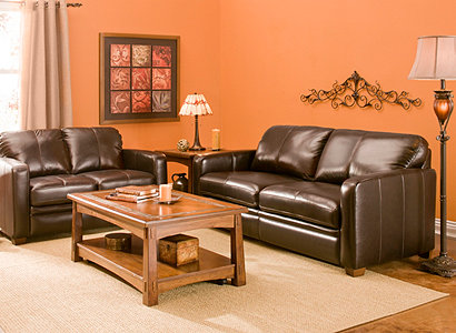 Trent Contemporary Leather Living Room Collection Design