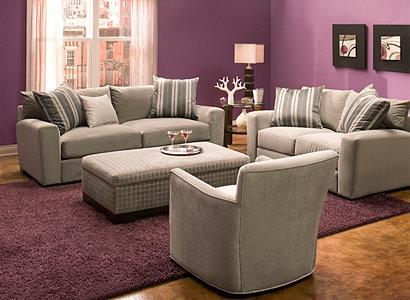 Carlin Contemporary Living Room Collection