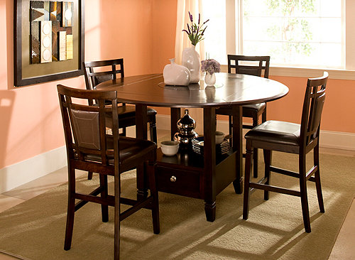 Northfield 5 Pc Counter Height Dining Set Brown