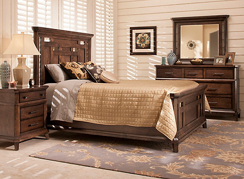 Acorn Hill 4 Pc King Bedroom Set Bedroom Sets Raymour And Flanigan Furniture
