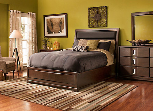 denali 4 pc king platform bedroom set w storage bed bedroom sets