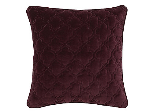 Burgundy Microfiber Throw Pillows : Quilted Burgundy Throw Pillow - Burgundy Raymour & Flanigan