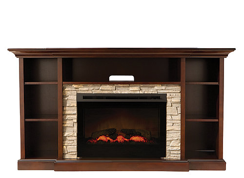 "Merrick 65"" TV Console w/ 25"" Electric Fireplace ..."
