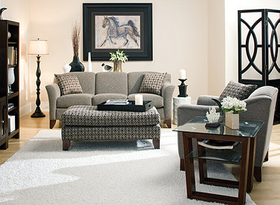 Meyer Contemporary Chenille Living Room Collection