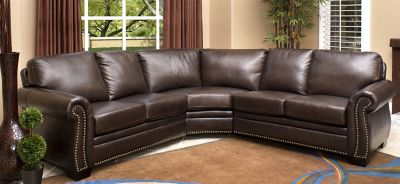 View All Abbyson Living Collections · Asbury Park 3 Pc. Leather Sectional  Sofa