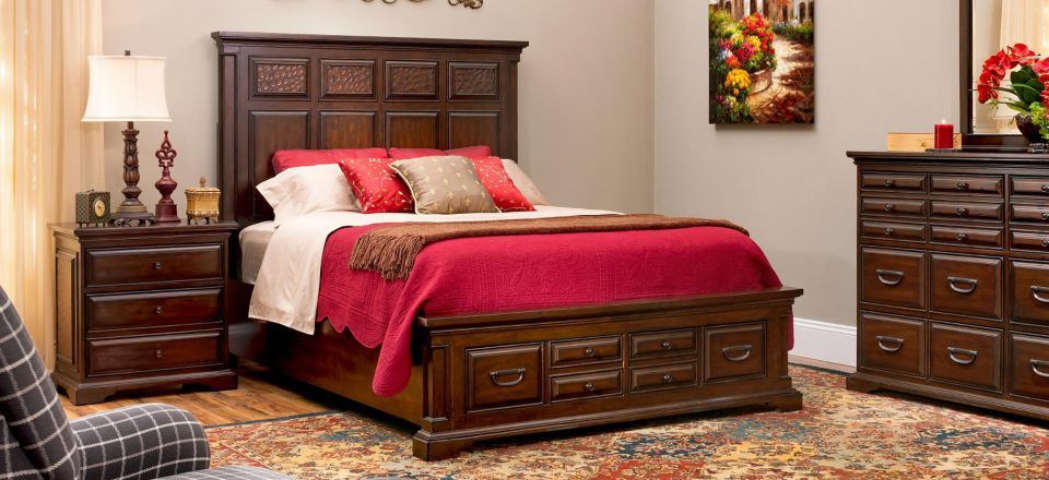 Collins 4-pc. King Bedroom Set w/ Storage Bed