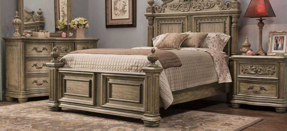 Bedroom Furniture Sets Beds Mirrors Desks Dressers Westlake 4 Pc Queen Platform Bedroom Set