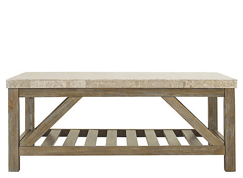 Palmdale Marble Coffee Table Weather Oak Marble Raymour Flanigan