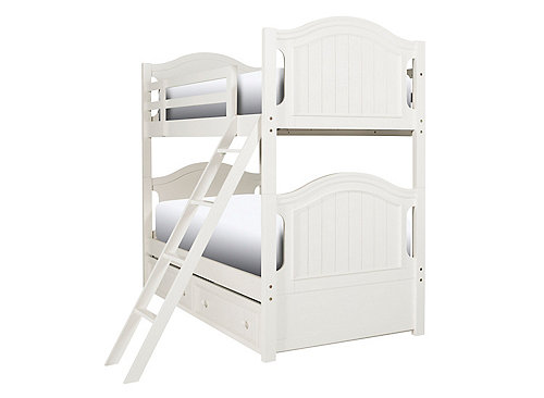 Willow Point Twin Over Twin Bunk Bed W Trundle White