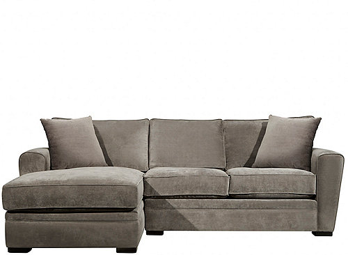 Artemis Ii 2 Pc Microfiber Sectional Sofa Gypsy Vintage