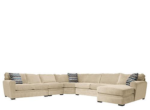 Artemis ii 5 pc microfiber sectional sofa gypsy stone for 5 pc microfiber sectional sofa