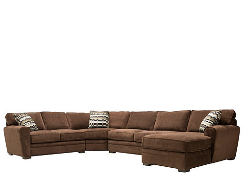 Artemis Ii 4 Pc Microfiber Sectional Sofa Gypsy