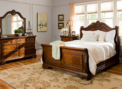Catalina 4 Pc Queen Bedroom Set Cognac Raymour Amp Flanigan