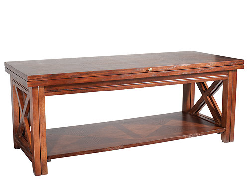 Tucson Flip Top Coffee Table Tobacco Brown Raymour Flanigan