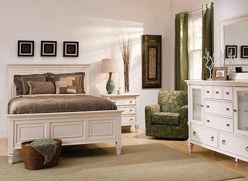 somerset 4 pc queen bedroom set alabaster raymour flanigan