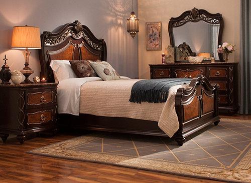 Palazzo 4 Pc Queen Bedroom Set Bedroom Sets Raymour And Flanigan Furnitu