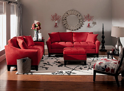 Rory Contemporary Microfiber Living Room Collection