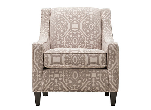 Cindy Crawford Calista Accent Chair Medallion Linen
