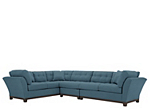 Cindy Crawford Home Metropolis Microfiber Sofa Indigo