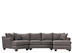 Foresthill 2 Pc Microfiber Sectional Sofa Slate