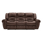 Cole Leather Power Reclining Sofa Dark Brown Raymour