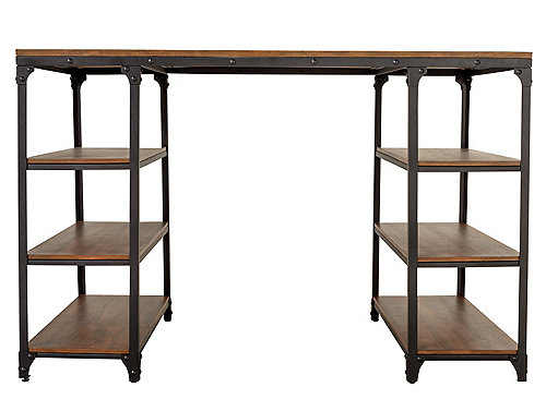 Lorimer Counter-Height Writing Desk Office Desks Raymour and ...