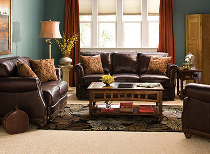 Alexander Traditional Leather Living Room Collection