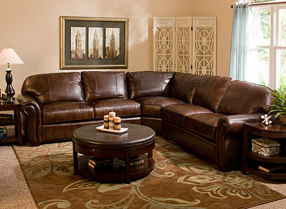 Emery Traditional Leather Living Room Collection Design