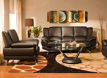 Bentley Contemporary Living Room Collection