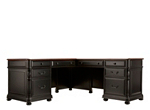 Bristol Court 2 Pc Credenza And Hutch Cherry Black