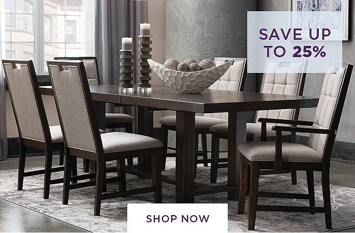 Save up to 25% on Dining Rooms
