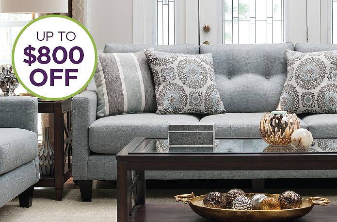 Up to $800 off living rooms