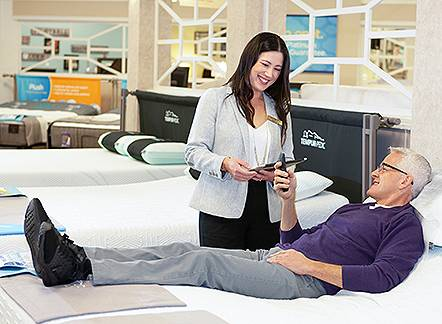Enter our Comfort Test sweepstakes! Visit your nearest showroom. Now through March 31