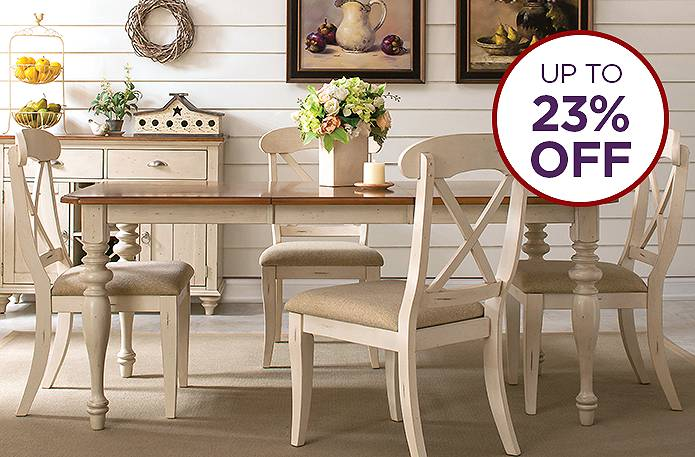 Save up to 23% on dining rooms