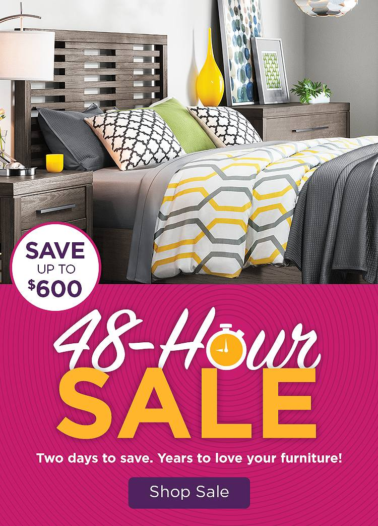 Raymour & Flanigan's 48-Hour Sale going on now.