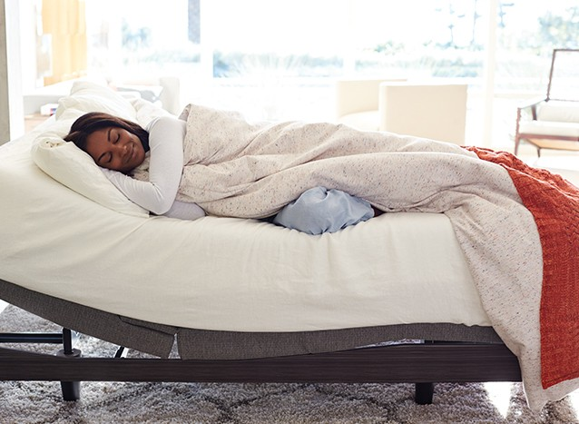 good sleep is in your hands with an adjustable base