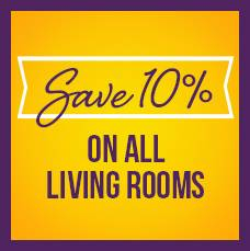 Save 10% on all living rooms