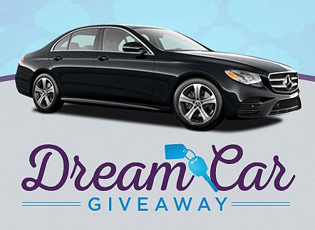 Dream Car Giveaway. Click to learn more. Going on now through September 6.