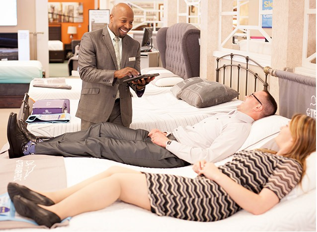 For your best rest, take our Comfort Test. Click here to find a store.