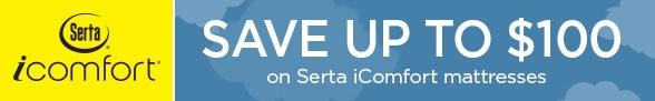 Save $100 on Serta iComfort