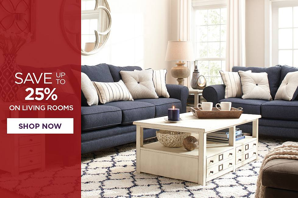 Save up to 26% on living rooms. Shop now.