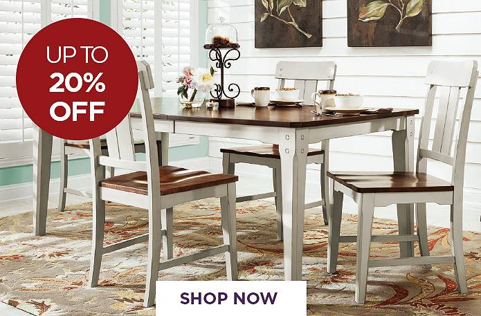 Save up to 20% on dining rooms. Shop Now