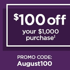 $100 Off Today Only! - Save in store or online