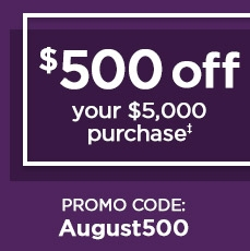 $500 Off Today Only! - Save in store or online