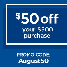 $50 Off Today Only! - Save in store or online