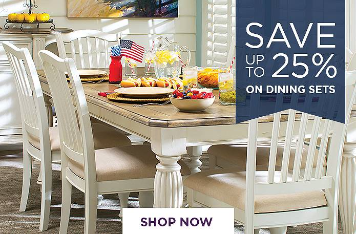 Save up to 25% on dining sets
